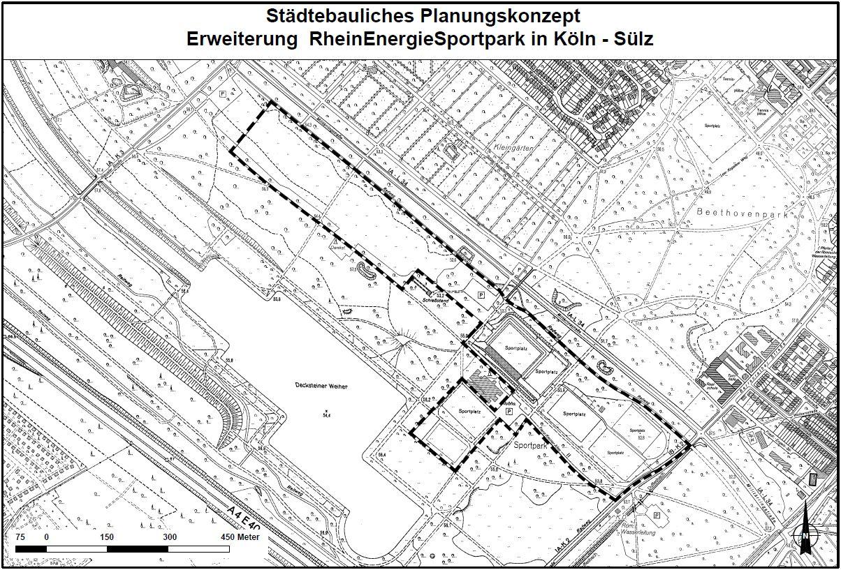 Plan der Stadt Köln