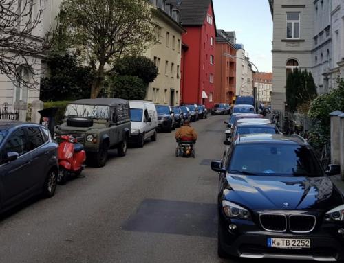 Die Verteilung der öffentliche Fläche, Bsp: Gellertstraße