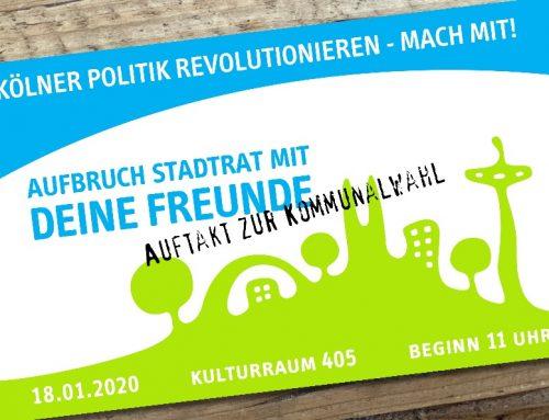 AUFBRUCH STADTRAT – Auftaktveranstaltung 18.01.2020