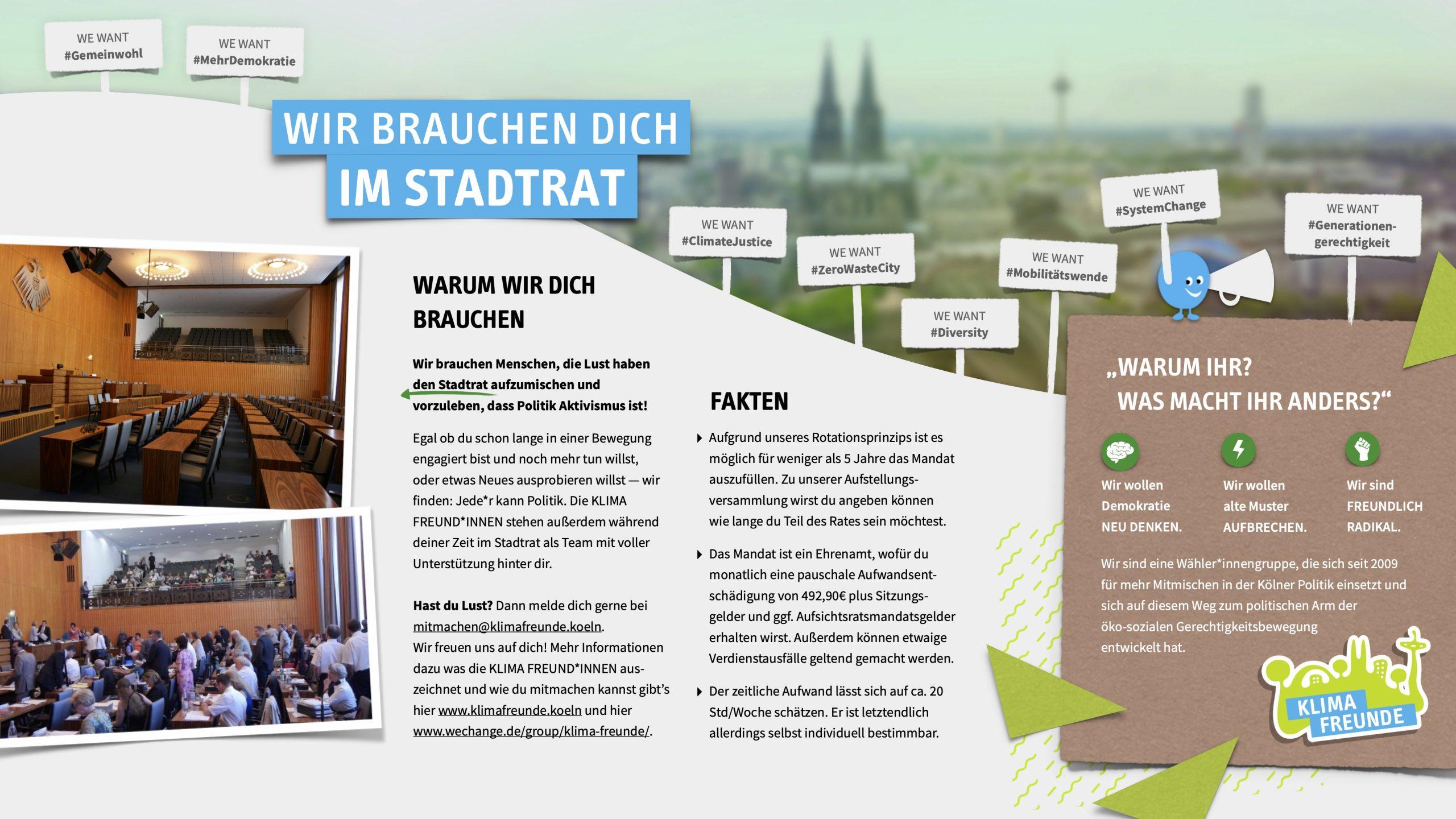 KLIMA FREUNDE Infoblatt Stadtrat
