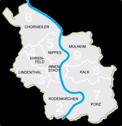 Köln Bezirke