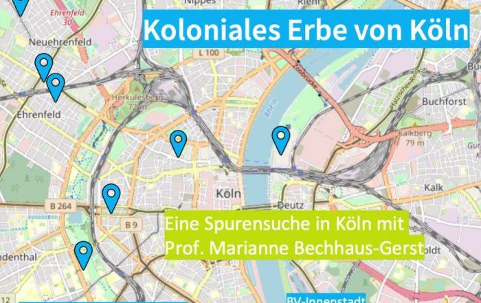 Köln Kolonialkarte KLIMA FREUNDE