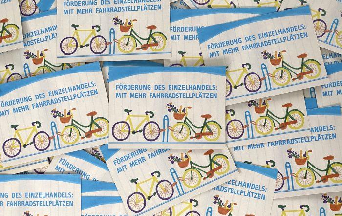 Mehr Fahrradstellplätze im Einzelhandel